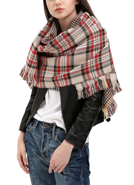 Urban CoCo Women Winter Warm Blanket Scarf Shawl Wrap (Series 3 red) Bingo E-Commerce JX8109R