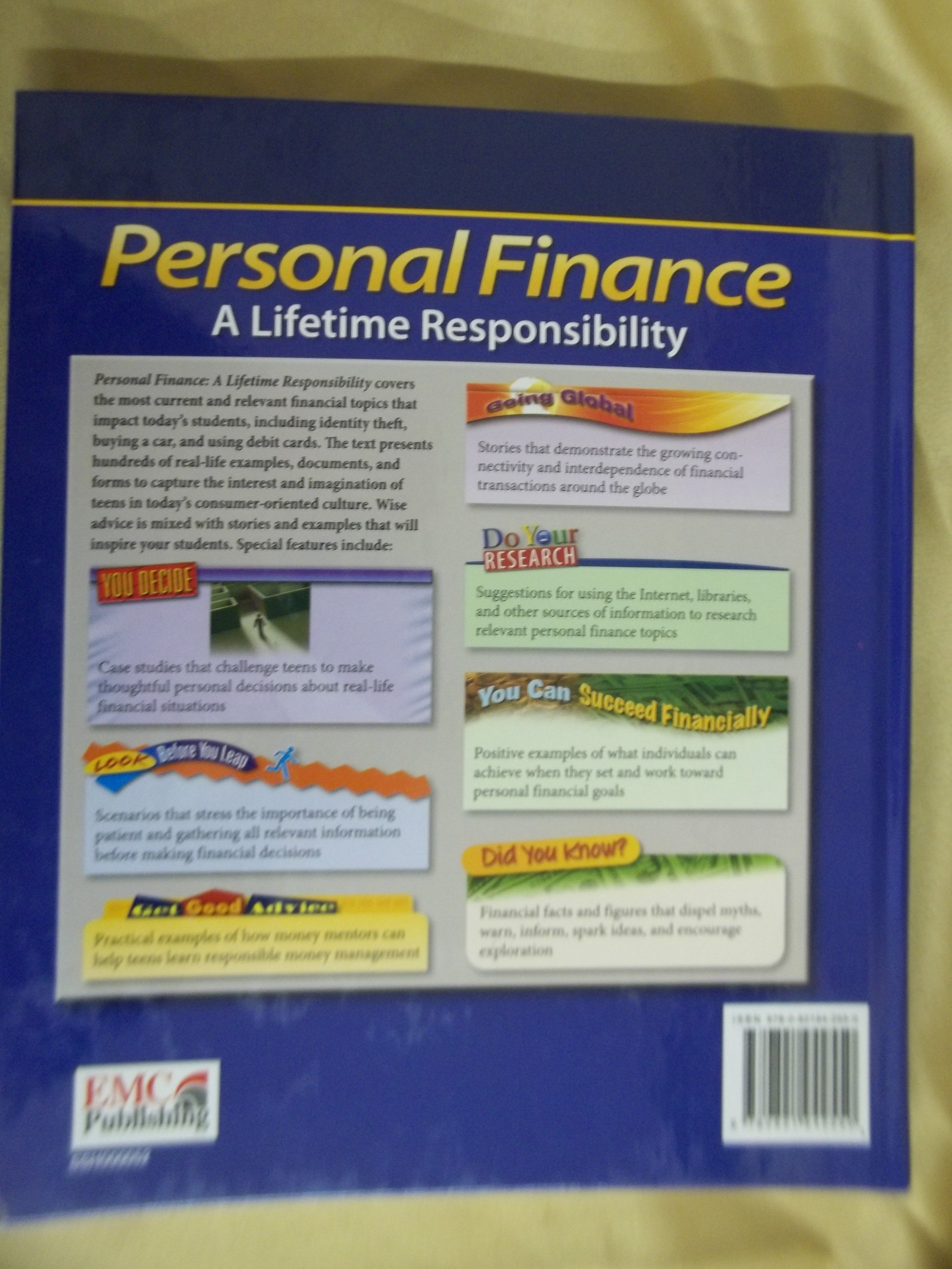 Personal Finance A Lifetime Responsibility Annotated Teachers