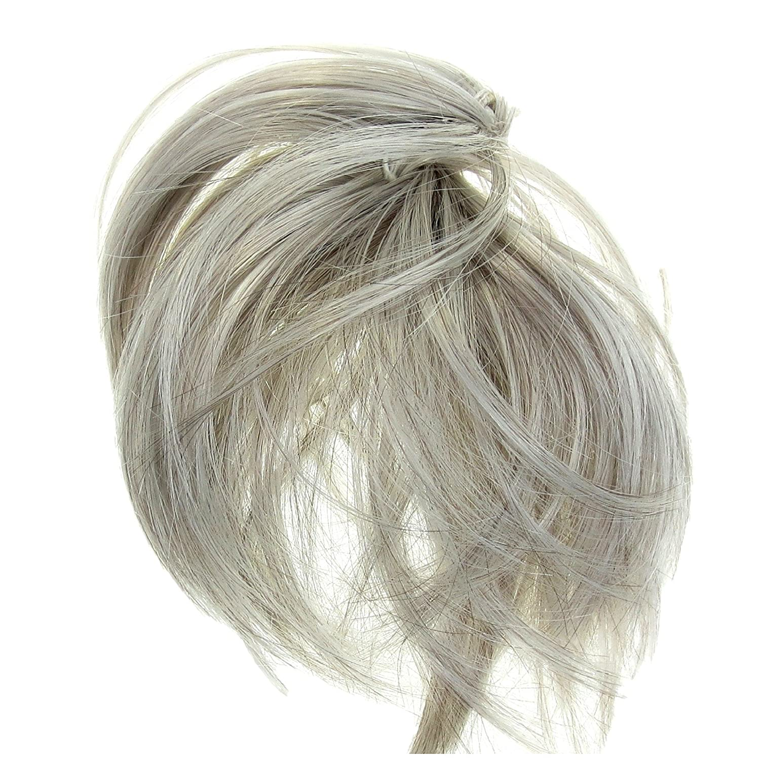 Amazon Hair Extension Silver Grey Scrunchie Up Do Down Do