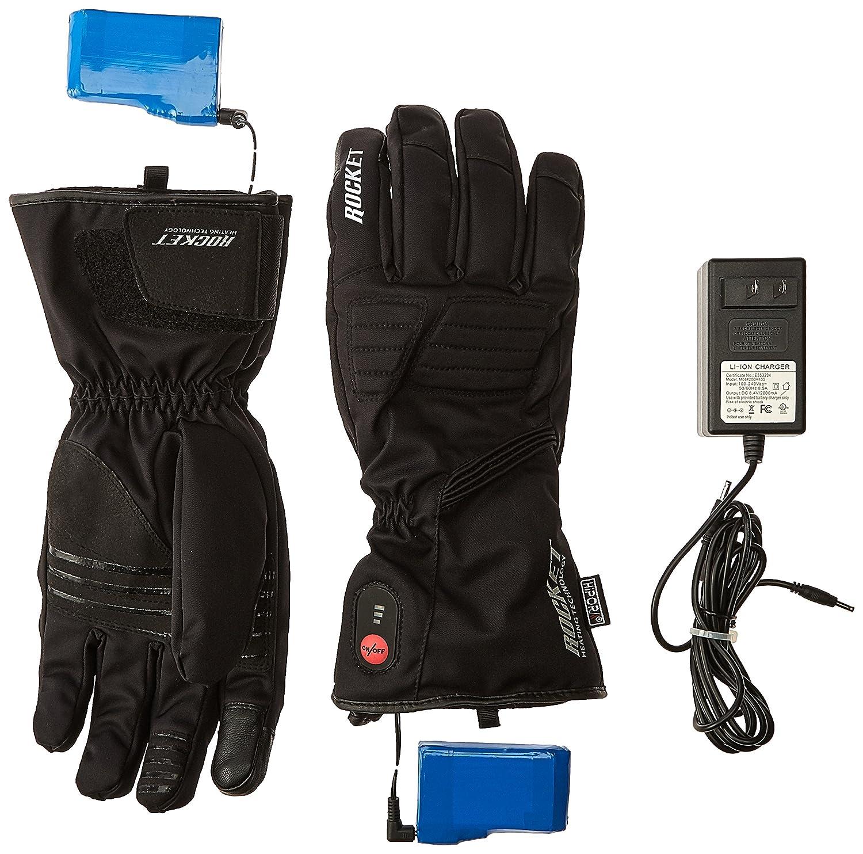 Black, X-Large HJC Rocket Burner Mens Heated Cold Weather Gloves
