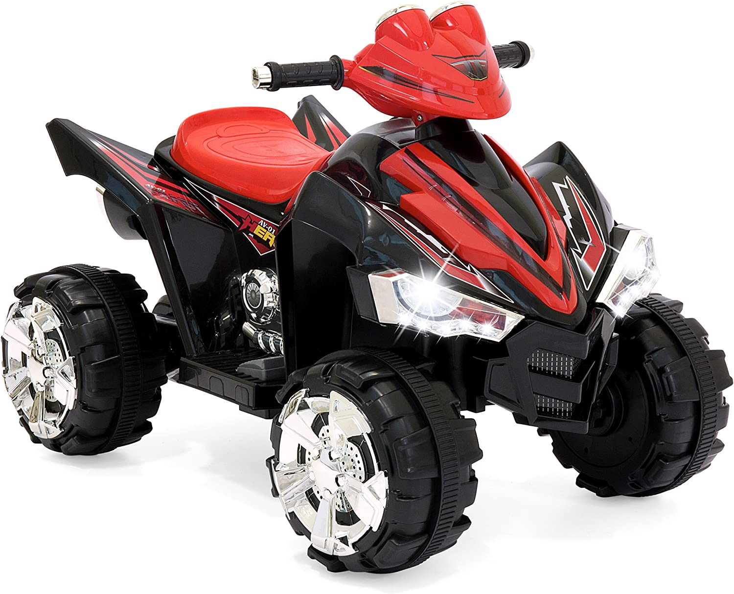 Best Choice Products 12V Kids Battery Powered Electric 4-Wheeler Quad ATV Ride On Toy w/ 2 Speeds