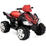 Best Choice Products Kids 12V Battery Powered Ride On Toy Car 4-Wheeler Quad ATV w/ LED Headlights, Forward and Reverse Gears, 2MPH Maximum Speed - Red