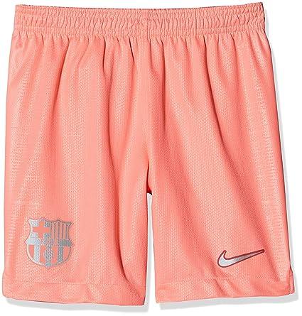 e1322fdeda7 Amazon.com   Nike 2018-2019 Barcelona Third Football Shorts Pink (Kids)    Clothing