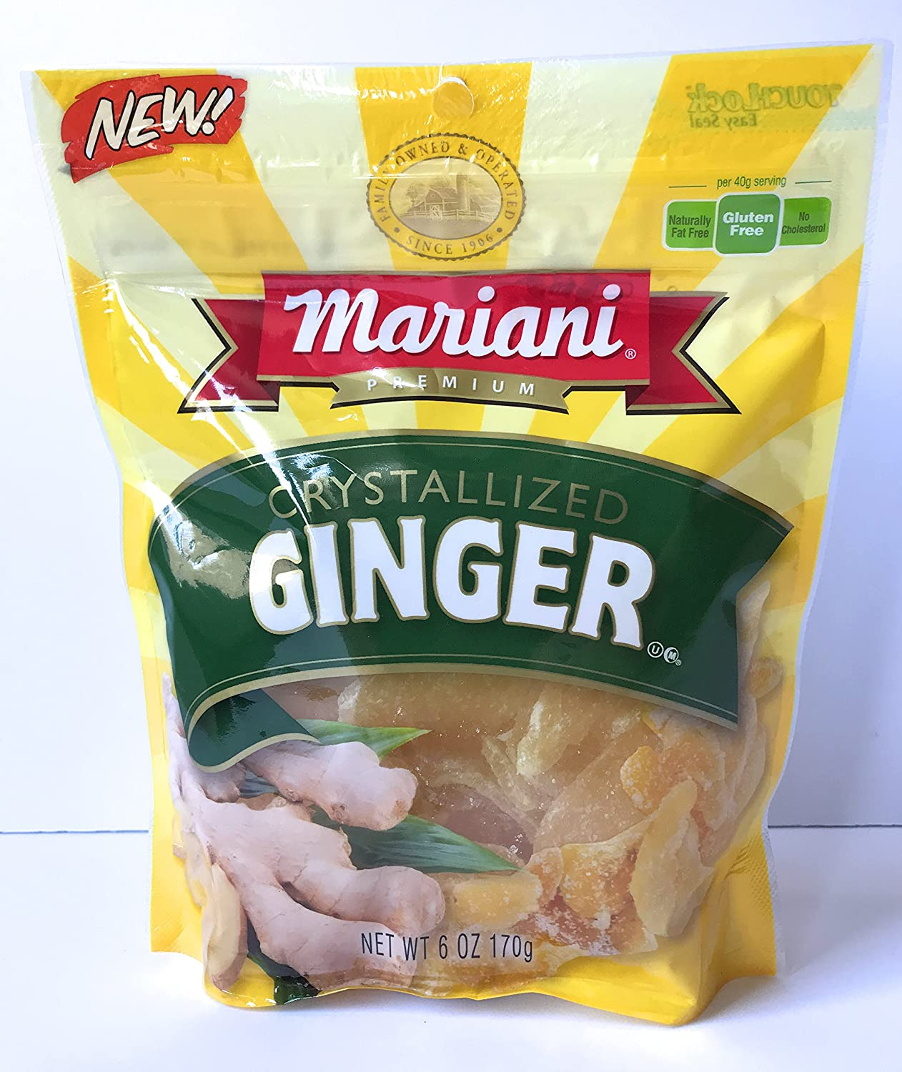 Mariani Crystallized Ginger 6 ounce Package: Amazon.com: Grocery & Gourmet Food