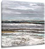 Yihui Abstract Art Seascape Picture Paintings Blue Gray Oil Painting Modern Pop Type Print on Canvas for Walls Ready to…