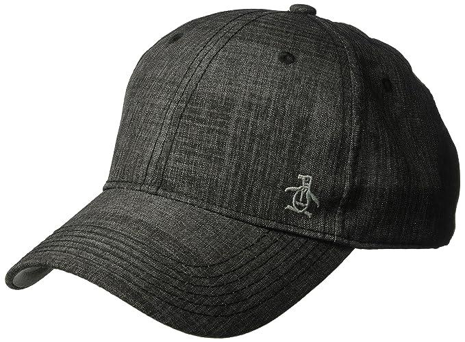 Amazon.com  Original Penguin Men s Textured Baseball Cap 9b1a6b4d0715