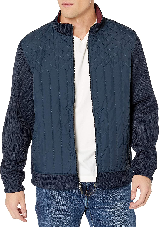 Popularity Perry Ellis Max 89% OFF Men's Quilted Full-Zip Front Jacket