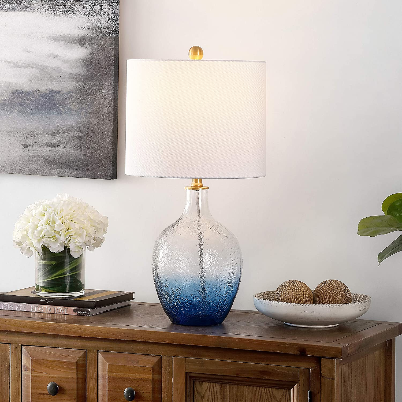 Safavieh Lighting Collection Merla Ombre Blue 12 inch Bedroom ...