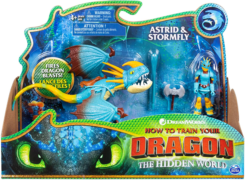 DREAM WORKS HOW TO TRAIN YOUR DRAGON THE HIDDEN WORLD ASTRID /& STORMFLY *BNIB*