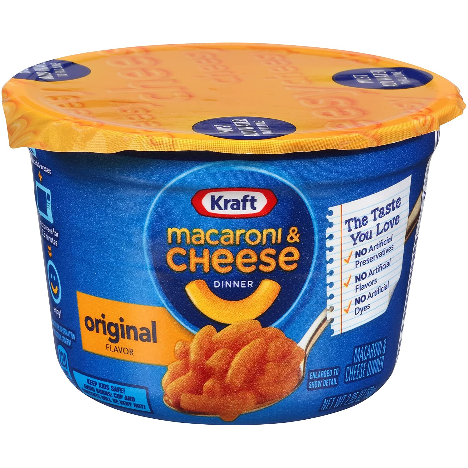 Kraft Easy Mac Original, 2.05-Ounce Microwave Cups (Pack of 36)