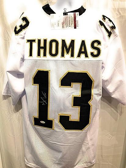 b5d571d53 Michael Thomas New Orleans Saints Signed Autograph White Custom Jersey  Black   s JSA Witnessed