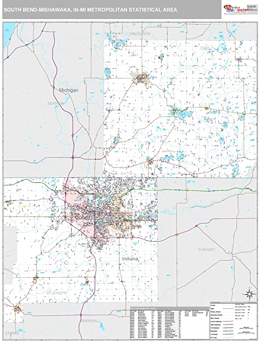 Amazon Com Marketmaps South Bend Mishawaka In Metro Area Wall Map