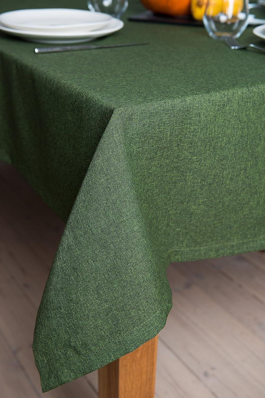 Rollmayer abwaschbar Tischdecke Wasserabweisend Lotuseffekt (Melange Rot 35, 150x350cm) Leinenoptik Tischtuch mit pflegeleicht Fleckschutz, Rechteckig, Farbe & Größe wählbar B076ZSKFHF Tischdecken