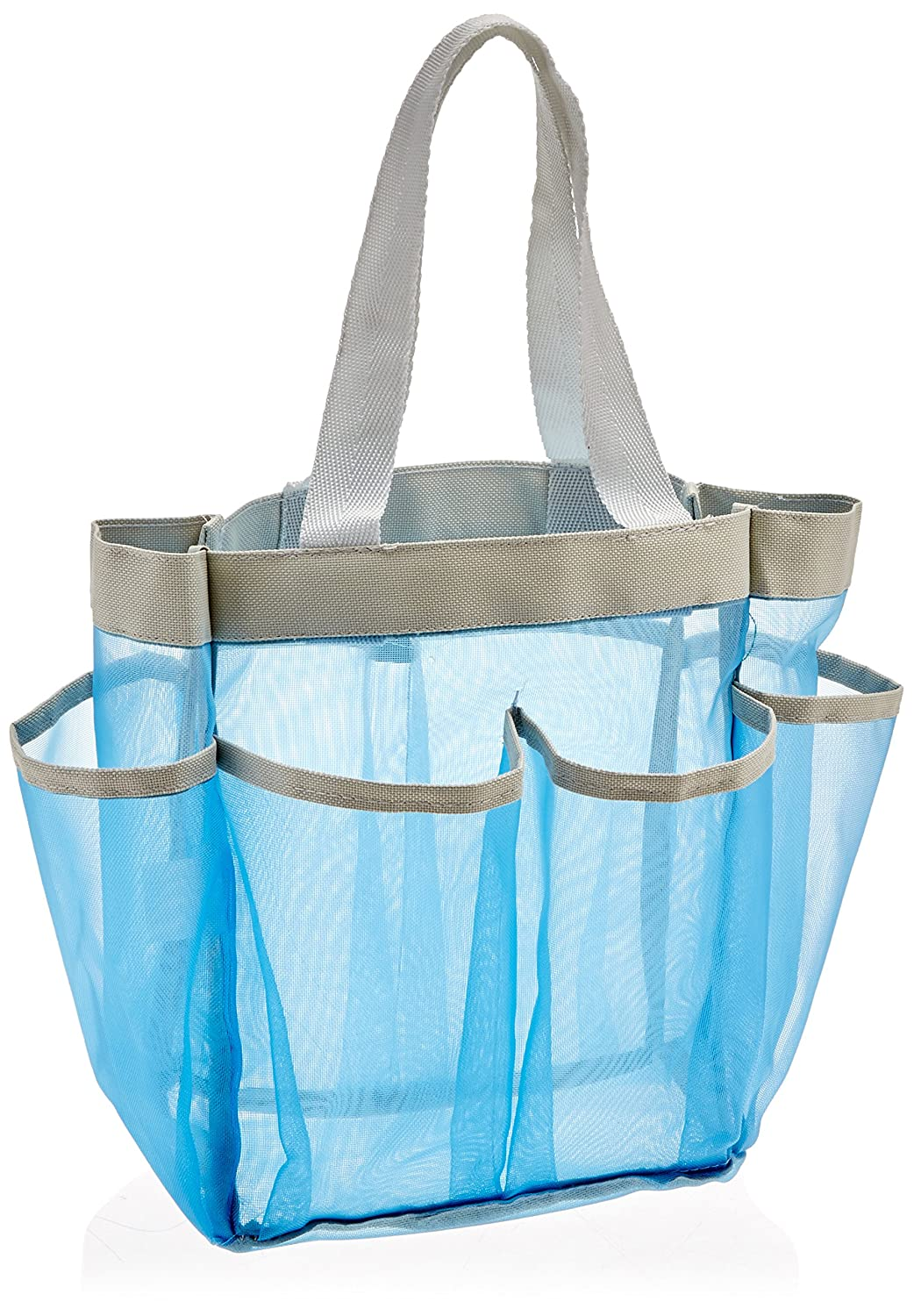 Amazon.com: White Mesh Shower Caddy Tote - Portable, Quick Dry ...
