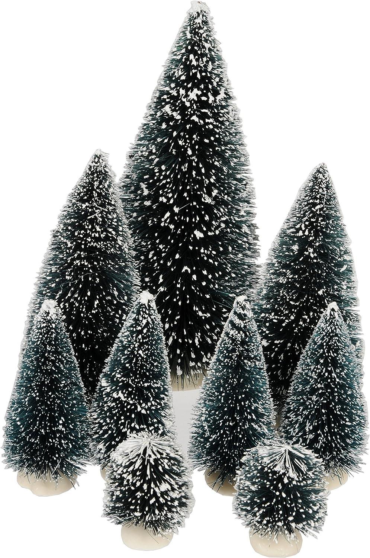 BLAU Schöner Holz-Tannenbaum mit 16 Sammelfiguren 23,5cm SONDERPREIS NEU!