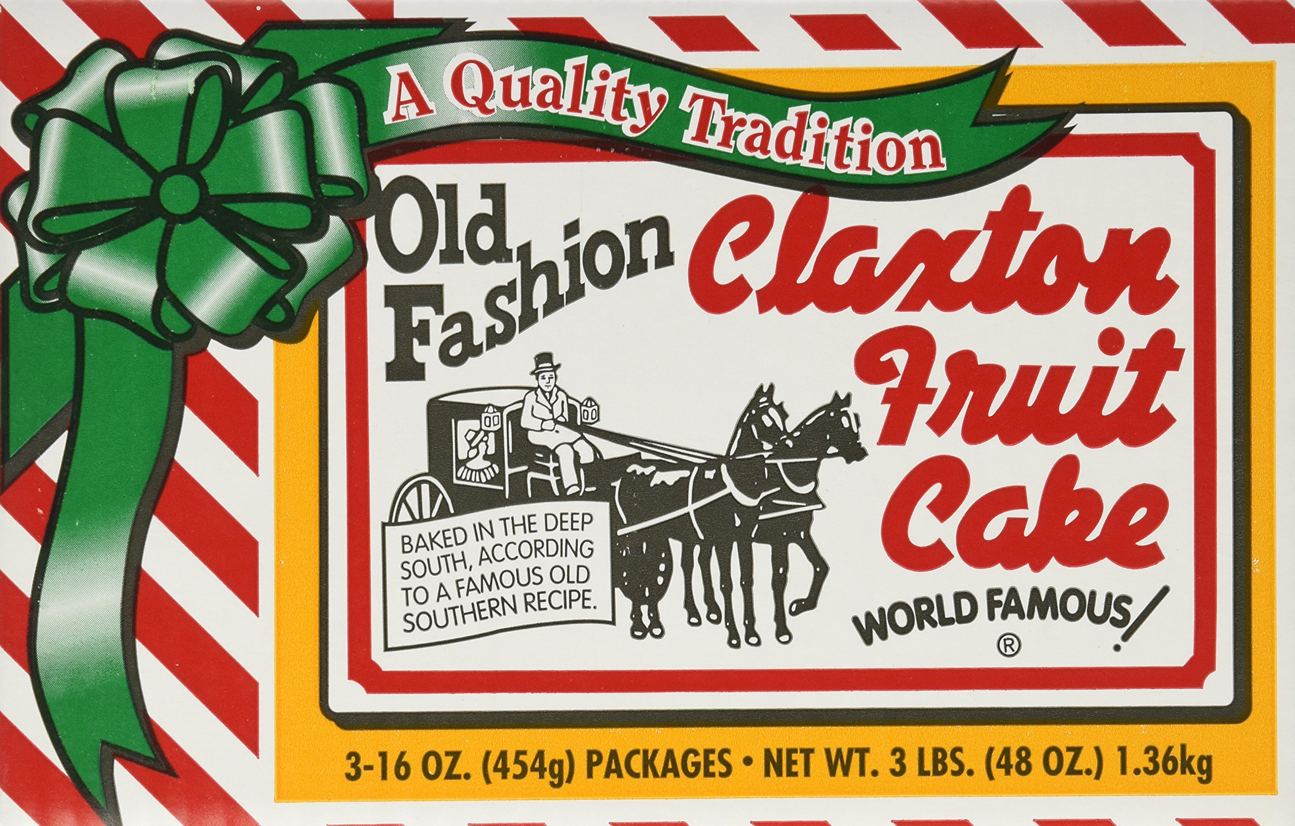 Claxton Old Fashioned Fruit Cake, 3 pounds