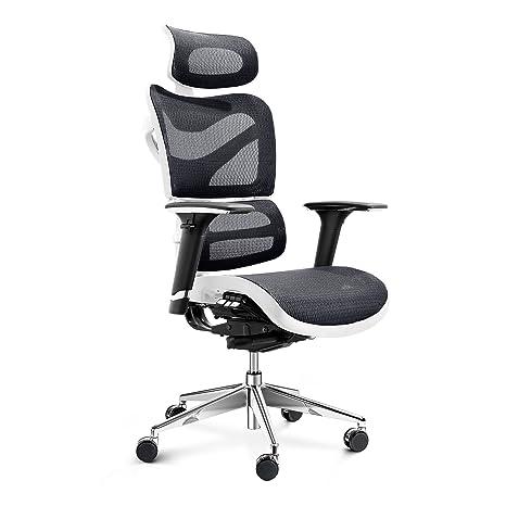 Diablo V de Dynamic ergonómico – Silla de escritorio giratoria, Oficina, reposabrazos ajustables,