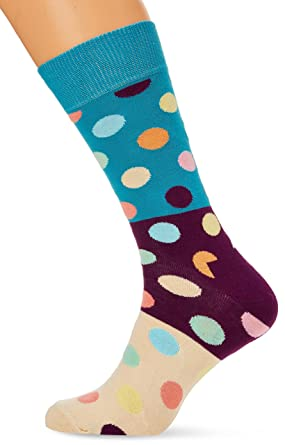 Happy Socks Big Dot Block Sock, Calcetines para Hombre: Amazon.es: Ropa y accesorios