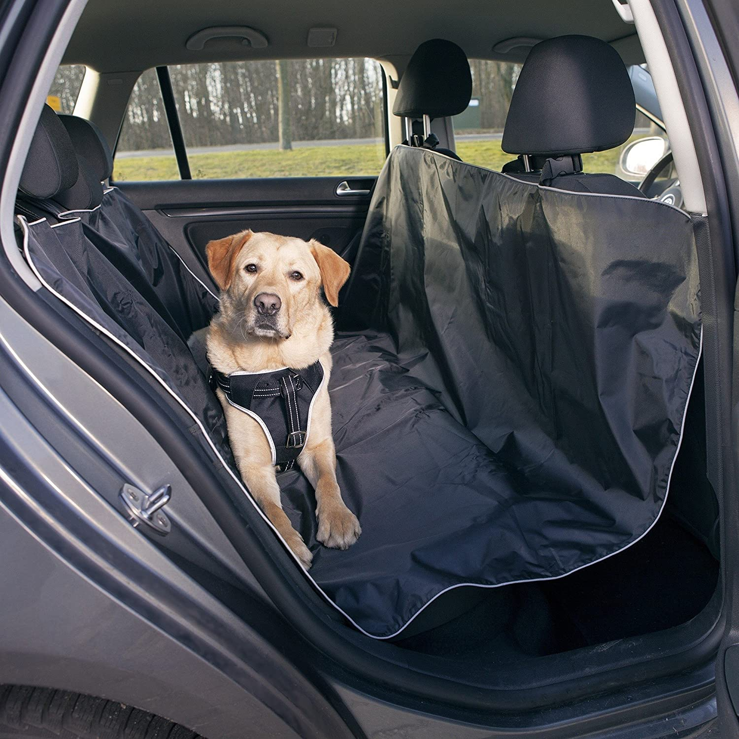 Trixie Car Seat Cover With Elastic (UK Size  1.45 × 1.60 m) (Black)