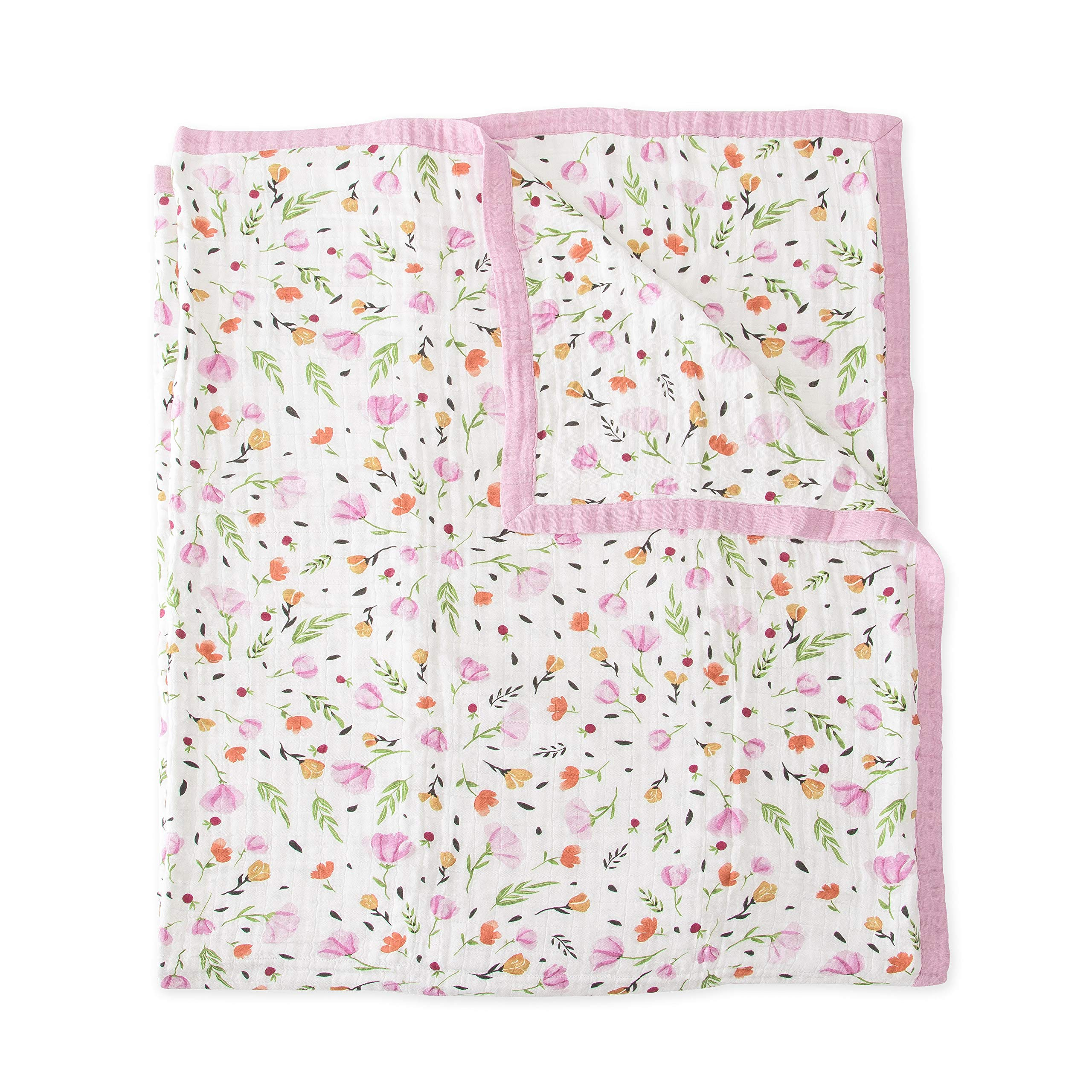 Little Unicorn Extra Soft Cotton Muslin Large Quilt Blanket - Berry & Bloom