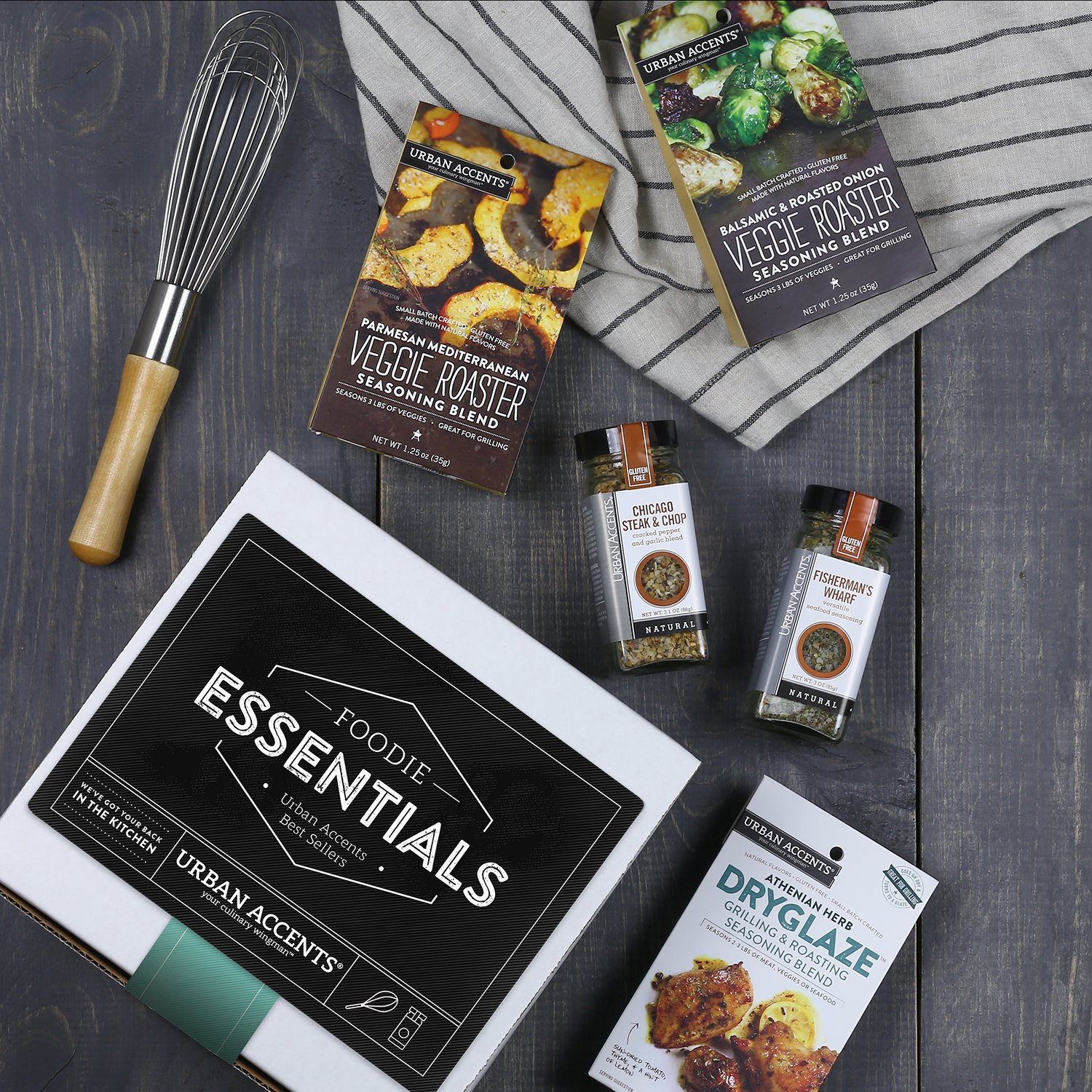 Urban Accents FOODIE ESSENTIALS, Gourmet Gift Set, A Collection of Spices, Veggie Roasters and Dryglazes, Perfect for Weddings, Housewarmings or Any Occasion by Urban Accents (Image #5)