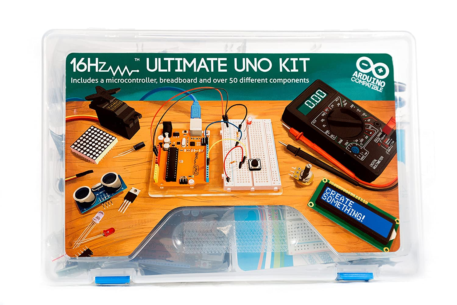 16hertz Uno R3 Ultimate Starter Kit Led Lcd Breadboard With Wire Watterott Electronic Shield Relay 9v Adapter Sensor Guide For Arduino Computers Accessories