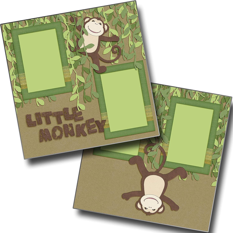 Little Monkey EZ Layout 4474 Premade Scrapbook Pages