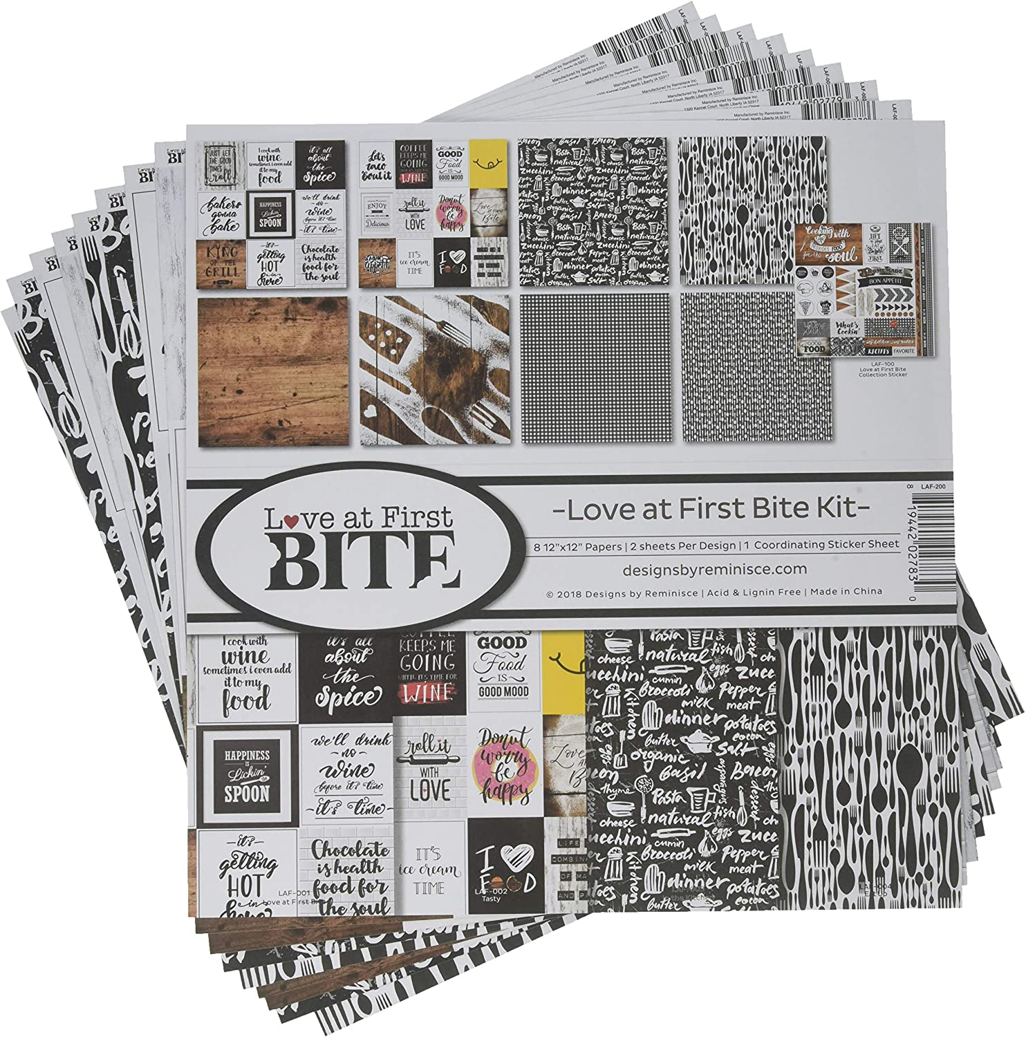 Reminisce (REMBC) Love at First Bite Scrapbook Collection Kit, Multi Color Palette