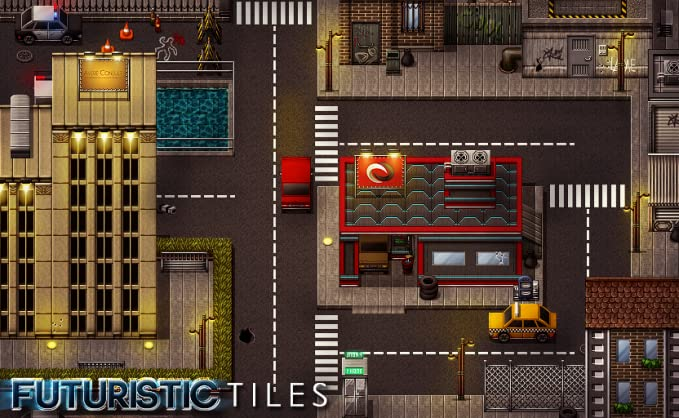 Amazon com: RPG Maker VX Ace DLC - Futuristic Tiles Resource