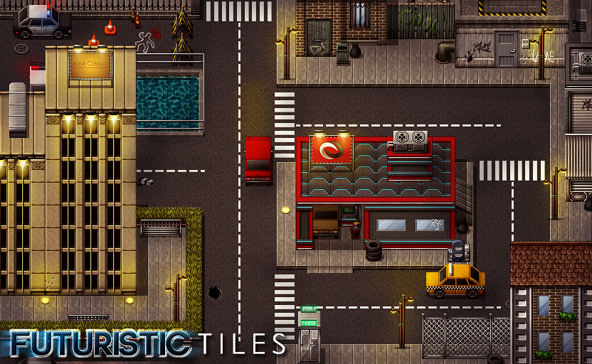 Amazon com: RPG Maker VX Ace DLC - Futuristic Tiles Resource Pack
