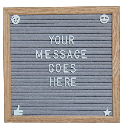 Royal Brands Gray Felt Letter Board Letters Numbers & Symbols and