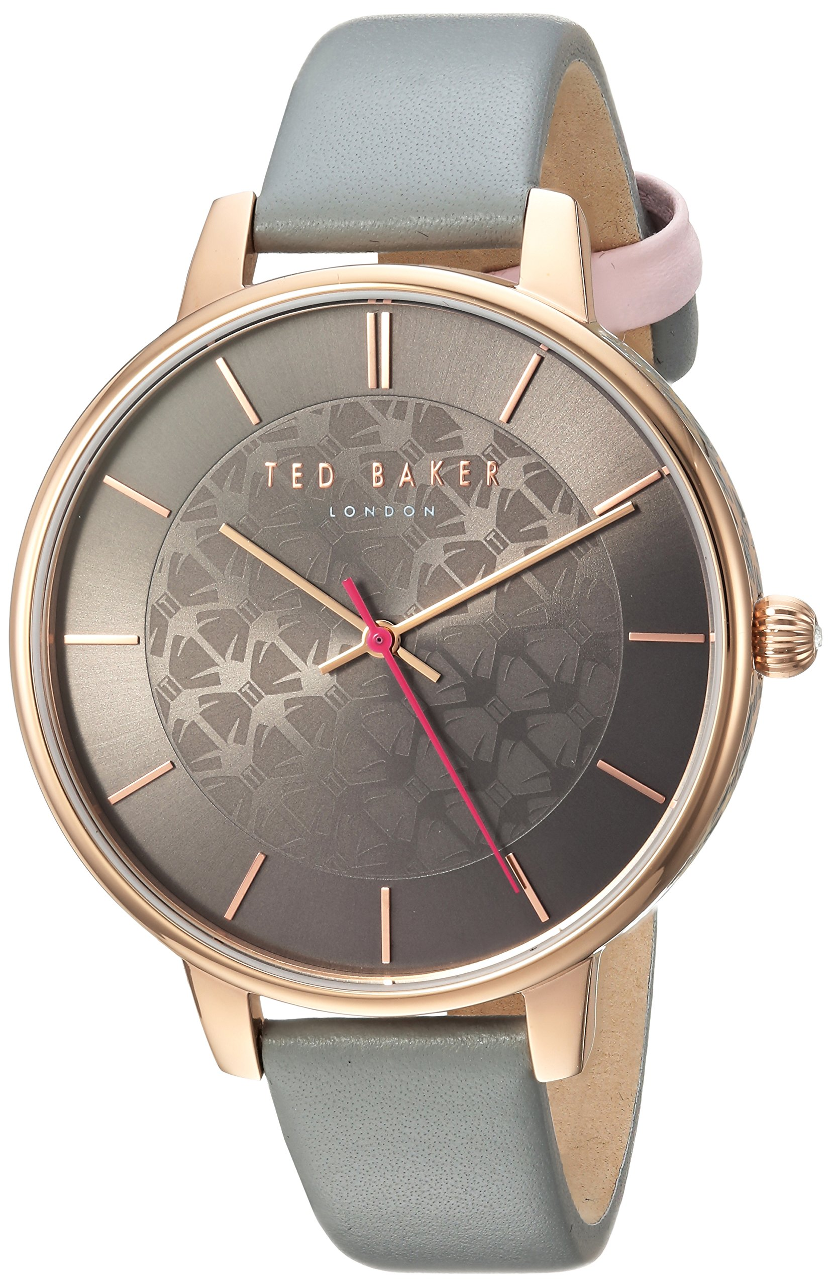 Ted Baker Women's 'Kate' Quartz Stainless Steel and Leather Casual Watch, Color:Grey (Model: TEC0025018) by Ted Baker