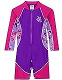Tuga Girls High Tide L/S Swimsuit (UPF 50+), Purple