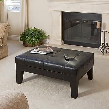 Amazon Com Christopher Knight Home Tucson Coffee Table Black