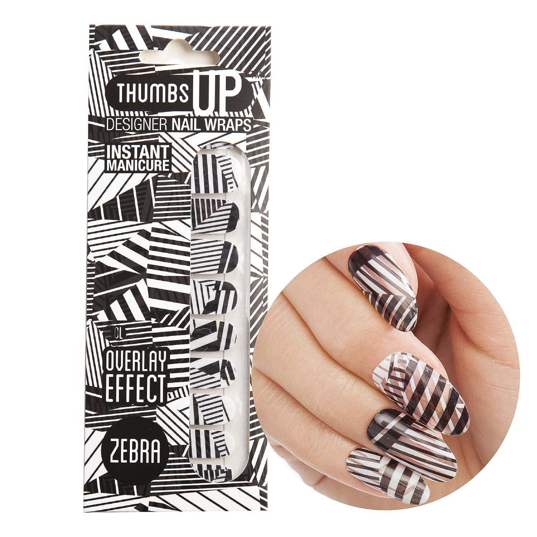 ThumbsUp ongles Zebra Monotone Base Transparente pour les ongles Vernis à ongles Foil/étiquette/bandes/une couverture complète Nail Art Stickers/20stratifiées par lot ThumbsUp Nails