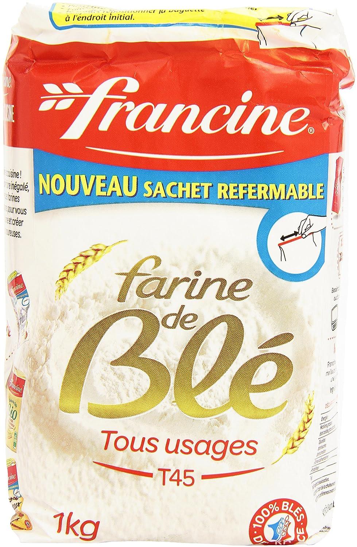 Harina de trigo francesa de la marca Francine, 12.6 libras
