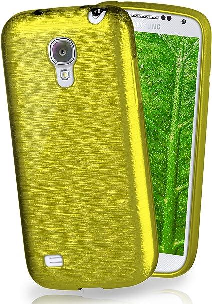 MoEx® Funda de Silicona con Aspecto Aluminio Cepillado Compatible con Samsung Galaxy S4 Mini en Vert Olive: Amazon.es: Electrónica