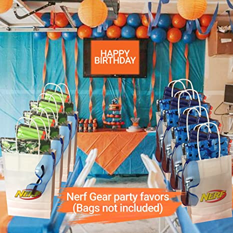 Amazon.com: Wishery Party Supplies for 8 Kids, Compatible with Nerf Guns. Accessories for Nerf Gun Birthday Party, Camo Party. Nerf Party Favors - Darts ...