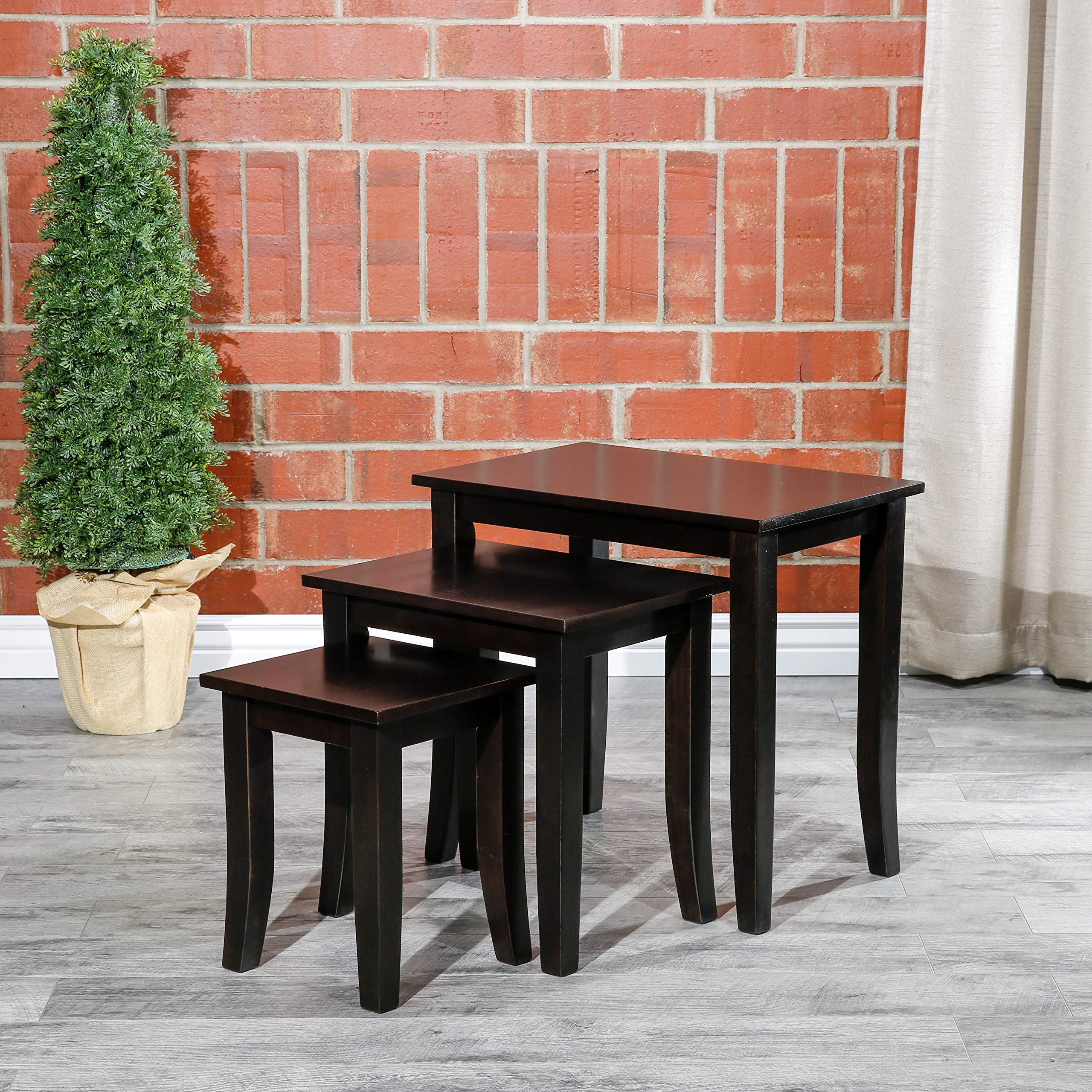 DTY Indoor Living Avon 3-Piece Nesting Table Collection - Espresso by DTY