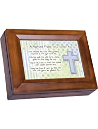 Baptismal Prayer For A Sweet Boy Wood Finish Jewelry Music Box   Plays Tune  You Are