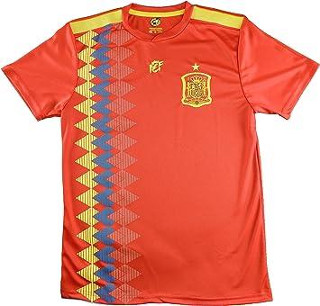 Camiseta Adulto Réplica de España. Producto Oficial Licenciado Mundial Rusia 2018.: Amazon.es: Deportes y aire libre