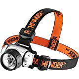 PATHFINDER XP-E Q4 CREE LED Headlamp Headlight - Water Resistant - 3 Modes of Operation, Head Safety Lamp, Garage Workshop Garden Flashlight, Head Torch for Biking, Cycling, Climbing, Camping, Hiking, Fishing, Night Reading, Riding, Dog Walking and other Indoor and Outdoor Activities - Adjustable Head Strap - 135 Degrees Adjustable Beam Angle - 100,000 Hours LED lifetime (in RETAIL PACKAGING) - SILVER