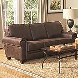 Coaster Home Furnishings 504201 Traditional Sofa, Brown