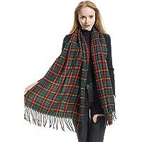 Women's Buffalo Plaid Check Scarves by Elzama - Long, Soft, Winter Warm Pashmina Shawl Wrap
