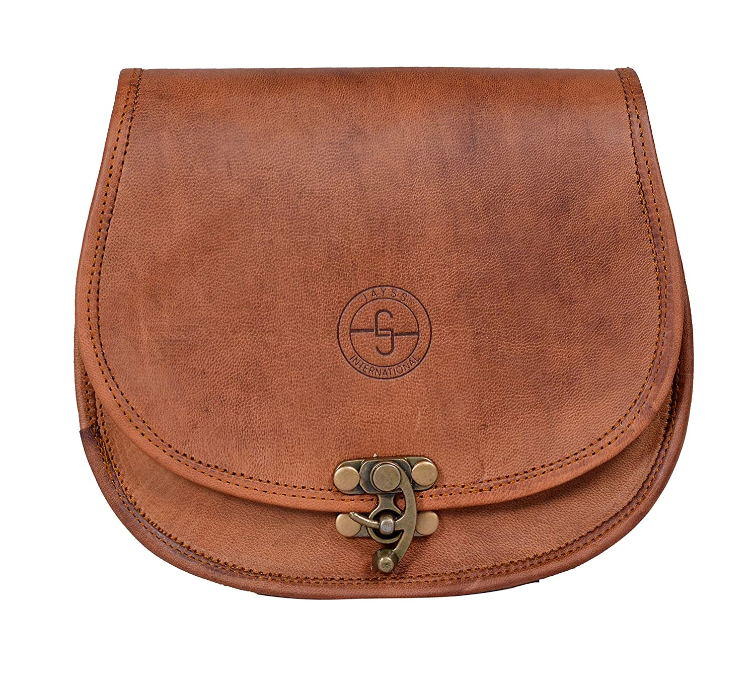 32b9aed27fdf Amazon.com  JAYSS HIDES Handmade Genuine Leather Messenger Sling Cross Body  Bag For Women And Girls (Color Brown).  Jayss International
