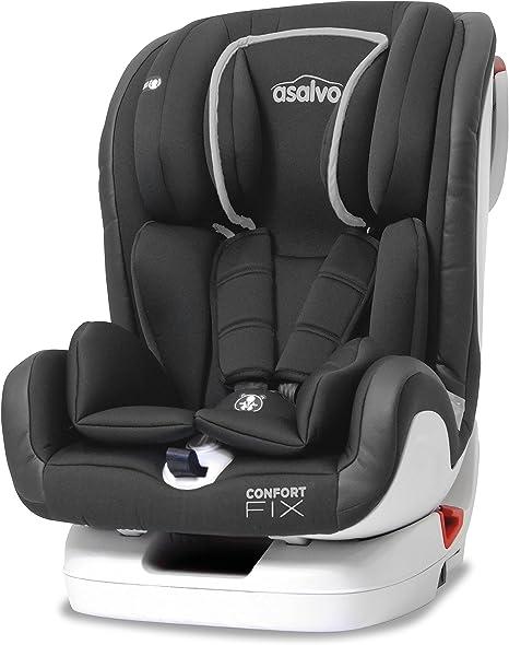 Asalvo, Silla de coche grupo 1/2/3 Isofix, gris: Amazon.es: Bebé