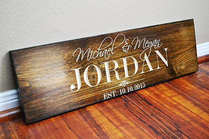 Amazon Fast Shipping Personalized Family Name Sign Wedding Gift