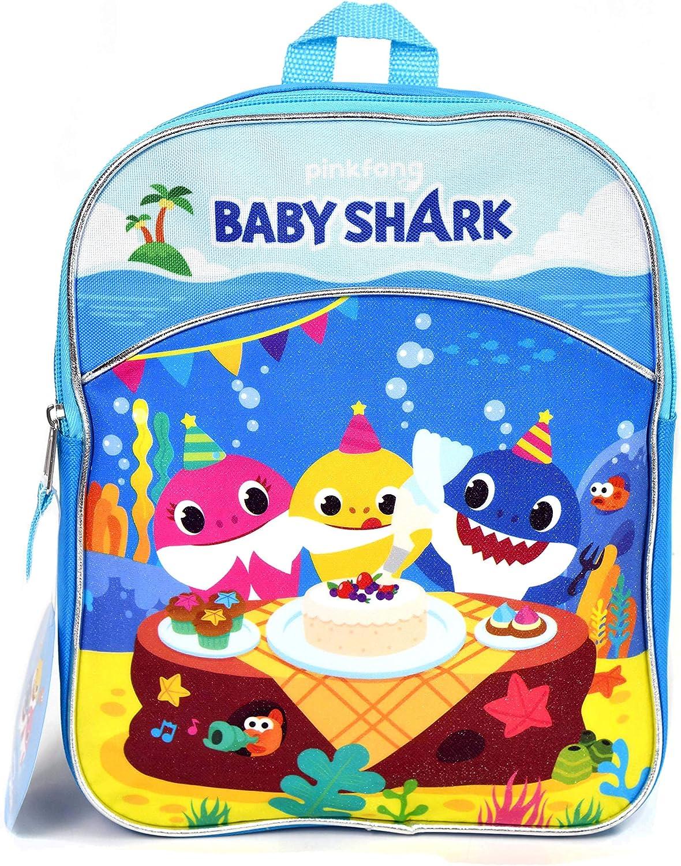 "3 Baby Shark 11"" Mini Backpack"