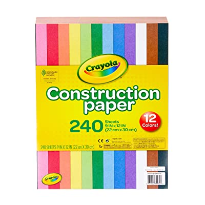 Crayola Construction Paper, 240 Count, Assorted Colors: Toys & Games