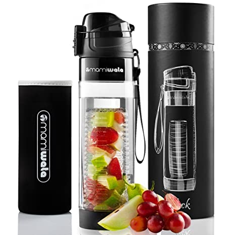 9eb85da5bd MAMI WATA Fruit Infuser Water Bottle – Create Naturally Flavoured Fruit  Infused Water – Unique stylish